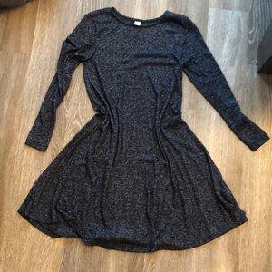SOFT Old Navy 3/4 sleeve black dress